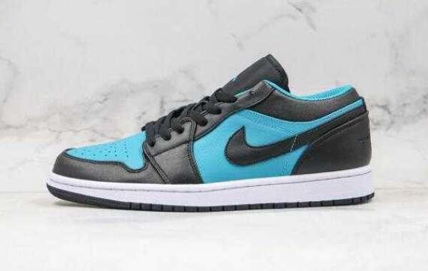 2020 Air Jordan 1 Low Blue Black Tiffany blue for Sale
